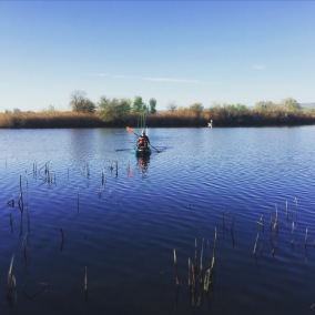 TCKA member fishing sloughs off the Columbia