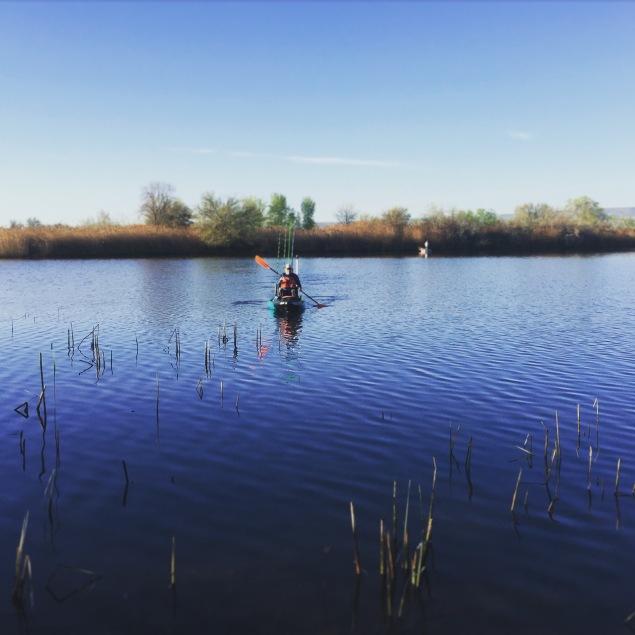 TCKA member fishing sloughs off the Columbia